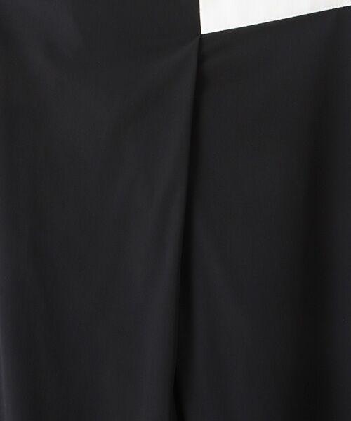 Verseau / ヴェルソー スラックス・ドレスパンツ | WHITE LINE {洗える} ストレッチタフタ レザーラインテーパードパンツ | 詳細1