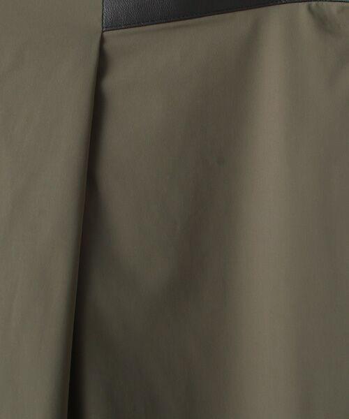 Verseau / ヴェルソー スラックス・ドレスパンツ | WHITE LINE {洗える} ストレッチタフタ レザーラインテーパードパンツ | 詳細6