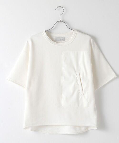 Verseau / ヴェルソー スウェット | WHITE LINE {洗える} 抗ウイルス クレンゼ 裏毛 Tシャツ(ホワイト)