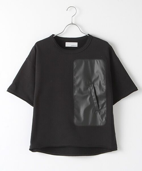 Verseau / ヴェルソー スウェット | WHITE LINE {洗える} 抗ウイルス クレンゼ 裏毛 Tシャツ(ブラック)