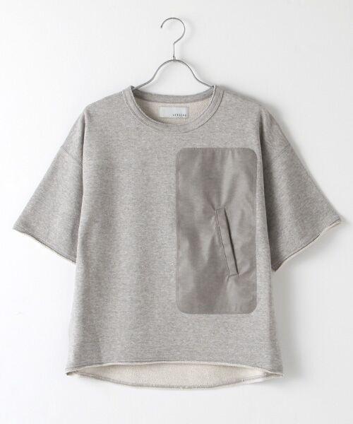 Verseau / ヴェルソー スウェット | WHITE LINE {洗える} 抗ウイルス クレンゼ 裏毛 Tシャツ(グレー)