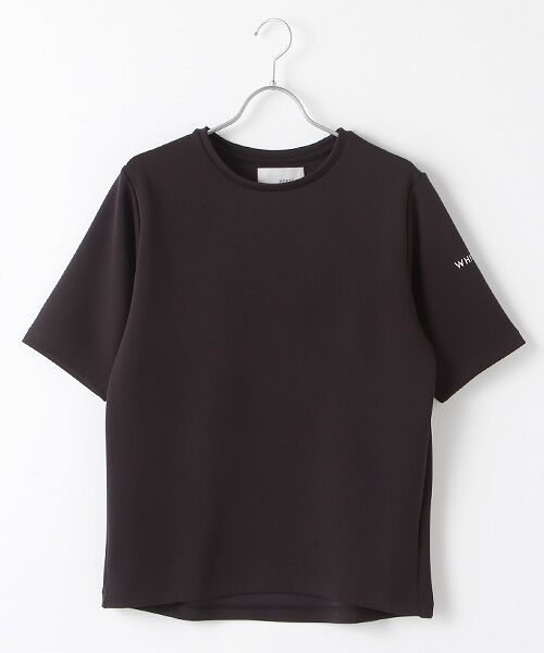 Verseau / ヴェルソー Tシャツ   WHITE LINE{洗える}抗菌・吸水速乾・UVカット 肌に優しいダンボールT(ブラック)