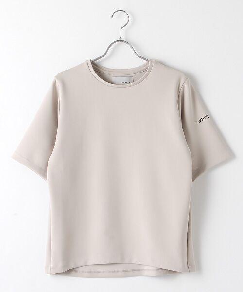 Verseau / ヴェルソー Tシャツ   WHITE LINE{洗える}抗菌・吸水速乾・UVカット 肌に優しいダンボールT(ベージュ)