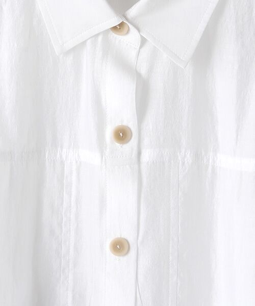 Verseau / ヴェルソー シャツ・ブラウス | シャイニーローンタンブラー シアーシャツ | 詳細1