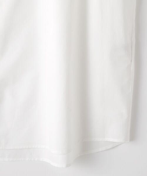 Verseau / ヴェルソー シャツ・ブラウス | WHITE LINE【ユニセックス】{洗える・抗菌・抗ウイルス}ハンドプリント五分袖シャツ | 詳細3