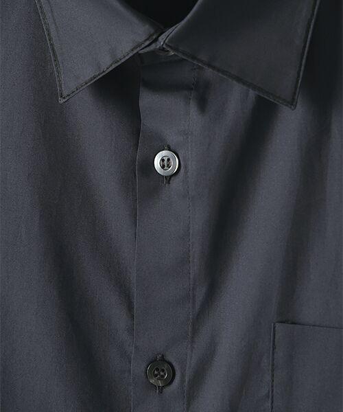 Verseau / ヴェルソー シャツ・ブラウス | WHITE LINE【ユニセックス】{洗える・抗菌・抗ウイルス}ハンドプリント五分袖シャツ | 詳細7