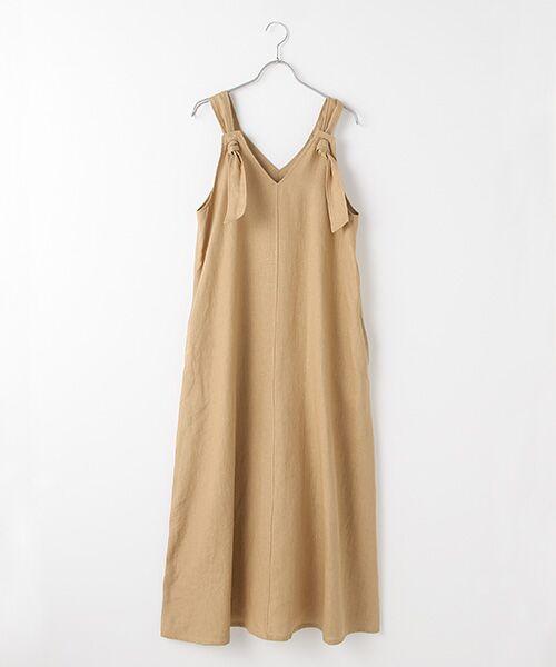 Verseau / ヴェルソー ドレス | フレンチリネン マキシサンドレス(ベージュ)