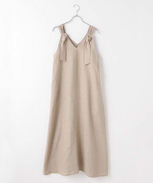 Verseau / ヴェルソー ドレス | フレンチリネン マキシサンドレス(グレー)