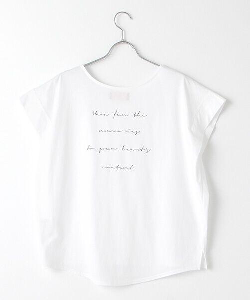 Verseau / ヴェルソー Tシャツ | {洗える}ハイゲージ天竺 パフュームプリントT | 詳細1