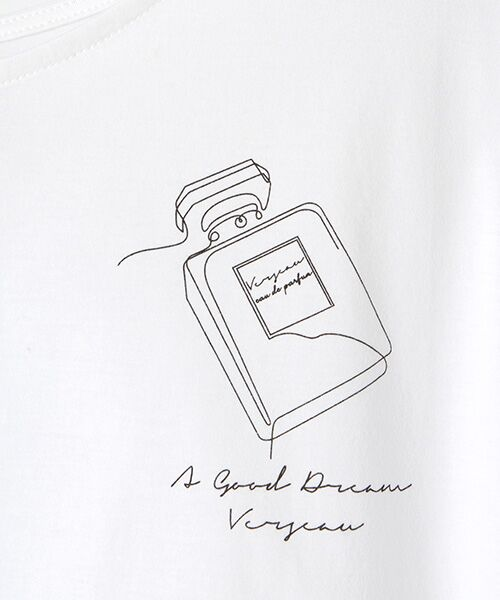 Verseau / ヴェルソー Tシャツ | {洗える}ハイゲージ天竺 パフュームプリントT | 詳細4