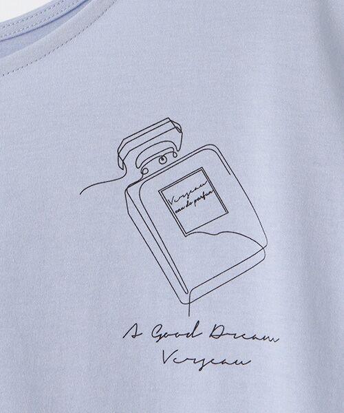 Verseau / ヴェルソー Tシャツ | {洗える}ハイゲージ天竺 パフュームプリントT | 詳細5