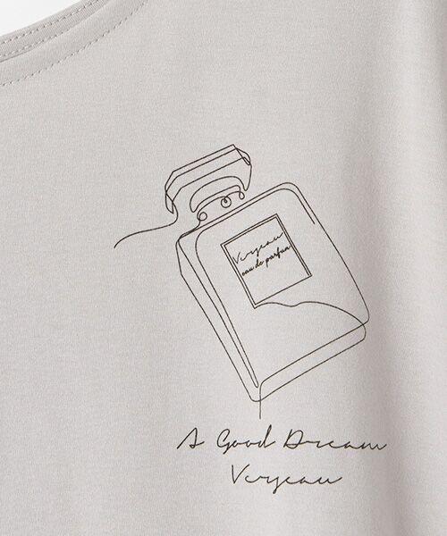 Verseau / ヴェルソー Tシャツ | {洗える}ハイゲージ天竺 パフュームプリントT | 詳細6