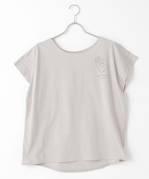 Verseau / ヴェルソー Tシャツ | {洗える}ハイゲージ天竺 パフュームプリントT(グレー)