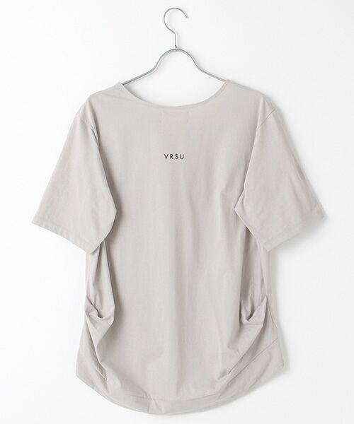 Verseau / ヴェルソー Tシャツ | {洗える}ハイゲージ天竺フォトプリントT | 詳細2