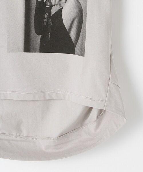 Verseau / ヴェルソー Tシャツ | {洗える}ハイゲージ天竺フォトプリントT | 詳細4