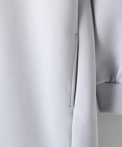Verseau / ヴェルソー ノーカラージャケット | ライトウエイト フーディワンピース | 詳細6