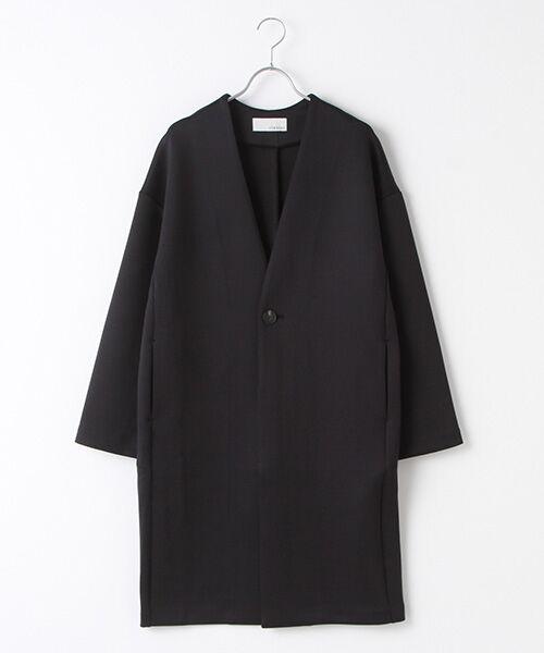 Verseau / ヴェルソー ノーカラージャケット   洗える、軽量、抗菌ダンボールノーカラーJK(ブラック)