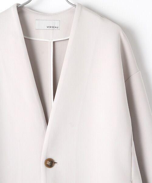 Verseau / ヴェルソー ノーカラージャケット   洗える、軽量、抗菌ダンボールノーカラーJK   詳細3