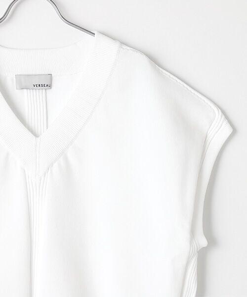 Verseau / ヴェルソー ベスト | 【ユニセックス】洗える、シーズンレスニットベスト | 詳細2