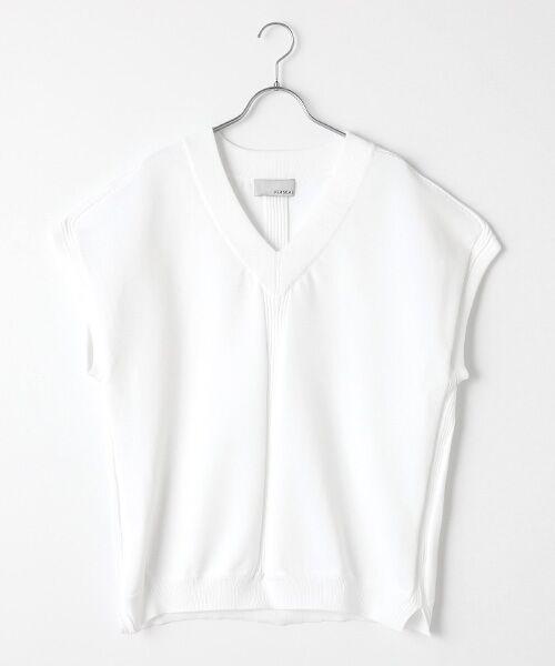 Verseau / ヴェルソー ベスト | 【ユニセックス】洗える、シーズンレスニットベスト(ホワイト)