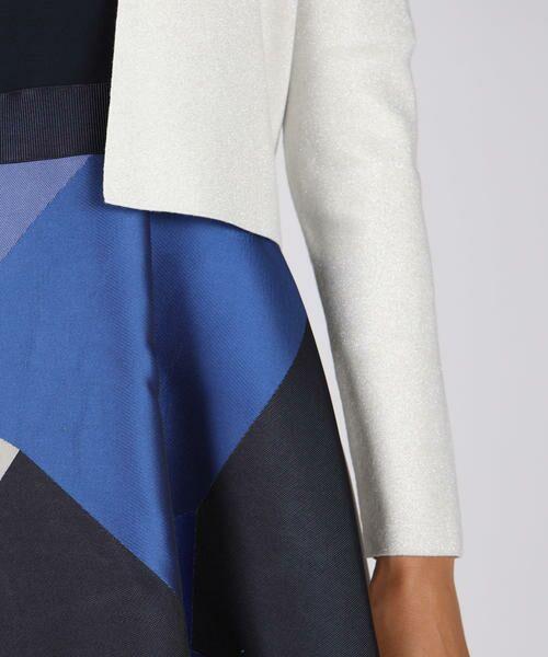 Viaggio Blu(大きいサイズ) / ビアッジョブルー(おおきいサイズ) ニット・セーター | 【大きいサイズ】ゴムジショートVカーディガン | 詳細5