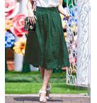 【洗濯機OK】カットジャガードタックフレアスカート