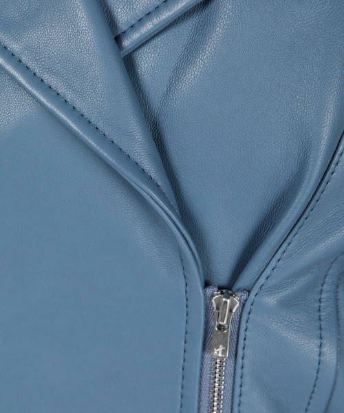 Viaggio Blu / ビアッジョブルー テーラードジャケット | DECO LUX ラムレザーファー付きライダースジャケット | 詳細5