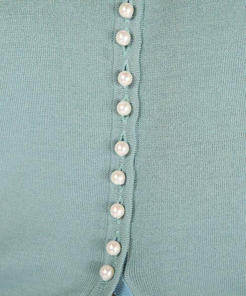 Viaggio Blu / ビアッジョブルー ニット・セーター | パールボタンスプリングクルーニット | 詳細8