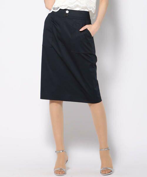 VICKY / ビッキー スカート | 【WEB別注】サテンタイトスカート(ネイビー)