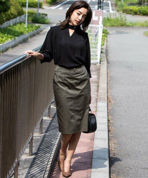 VICKY / ビッキー スカート | 【WEB別注】サテンタイトスカート | 詳細17