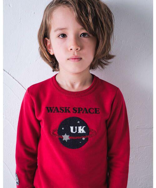 WASK/ワスク スペース UFO サガラ 長袖 トレーナー (90cm~160cm) レッド 90cm