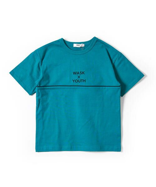 WASK/ワスク ワッペン付き ワイド 半袖 Tシャツ (100~160cm) グリーン 110cm