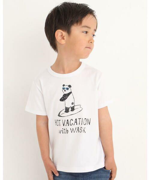 WASK / ワスク Tシャツ   アニマル 天竺 Tシャツ (100~160cm)(ブルー)