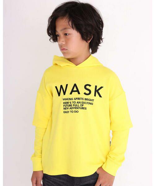WASK/ワスク レイヤード風 ファスナー付き ビッグ トレーナー (100~160cm) イエロー 130cm