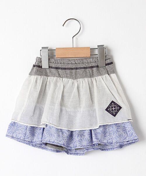 zuppa di zucca / ズッパ ディ ズッカ ミニ・ひざ丈スカート | 製品洗パンツ付スカート(サックス)