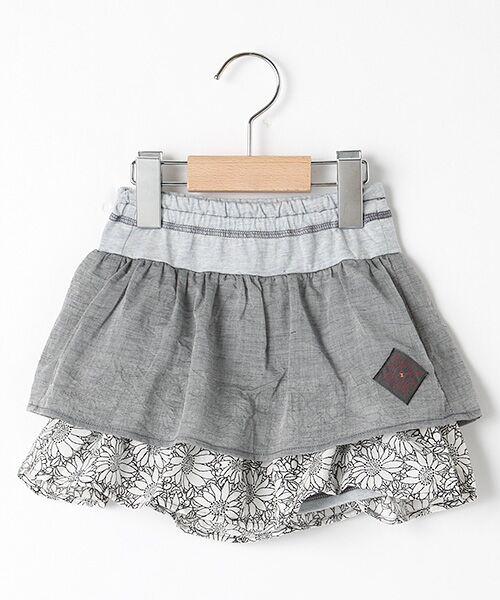 zuppa di zucca / ズッパ ディ ズッカ ミニ・ひざ丈スカート | 製品洗パンツ付スカート(グレー)