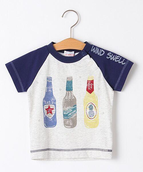 zuppa di zucca / ズッパ ディ ズッカ Tシャツ | 製品洗ボトルプリントTシャツ(オートミール)