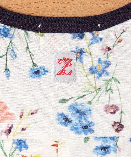 zuppa di zucca / ズッパ ディ ズッカ ミニ丈・ひざ丈ワンピース | 製品洗花柄フレンチスリーブワンピース | 詳細4
