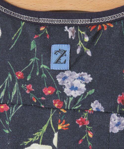 zuppa di zucca / ズッパ ディ ズッカ ミニ丈・ひざ丈ワンピース | 製品洗花柄フレンチスリーブワンピース | 詳細6