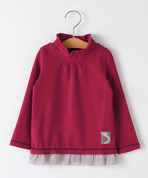 zuppa di zucca / ズッパ ディ ズッカ Tシャツ | 製品洗ハイネックTシャツ(アカ)