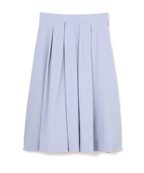 22 OCTOBRE / ヴァンドゥー・オクトーブル スカート | [ウォッシャブル]タックボリュームスカート(サックス)