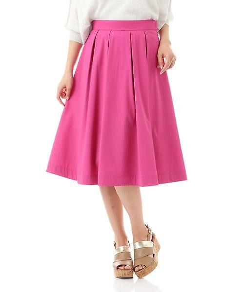 22 OCTOBRE / ヴァンドゥー・オクトーブル スカート | [ウォッシャブル]タックボリュームスカート(ピンク)