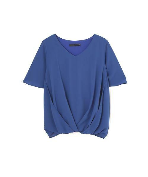 22 OCTOBRE / ヴァンドゥー・オクトーブル Tシャツ | [ウォッシャブル]サイドタックブラウソー(ブルー)