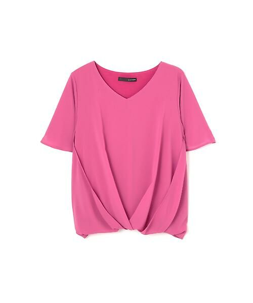 22 OCTOBRE / ヴァンドゥー・オクトーブル Tシャツ | [ウォッシャブル]サイドタックブラウソー(ピンク)