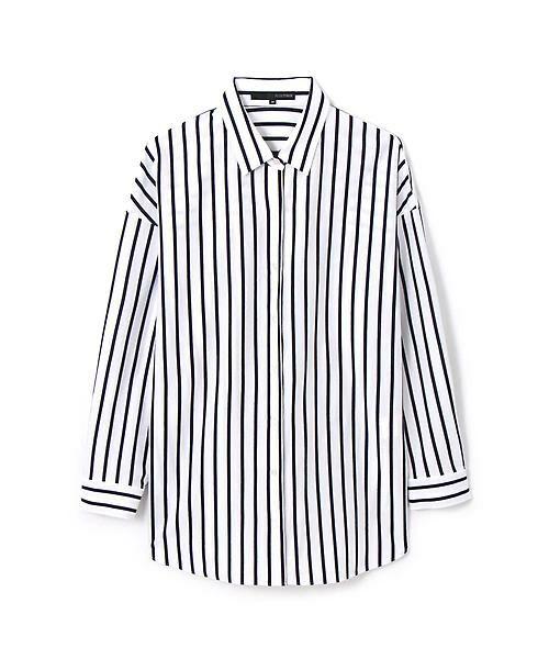 22 OCTOBRE / ヴァンドゥー・オクトーブル シャツ・ブラウス | オーバーサイズジャージーストライプシャツ | 詳細1
