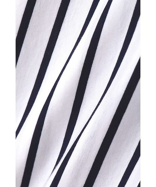 22 OCTOBRE / ヴァンドゥー・オクトーブル シャツ・ブラウス | オーバーサイズジャージーストライプシャツ | 詳細5