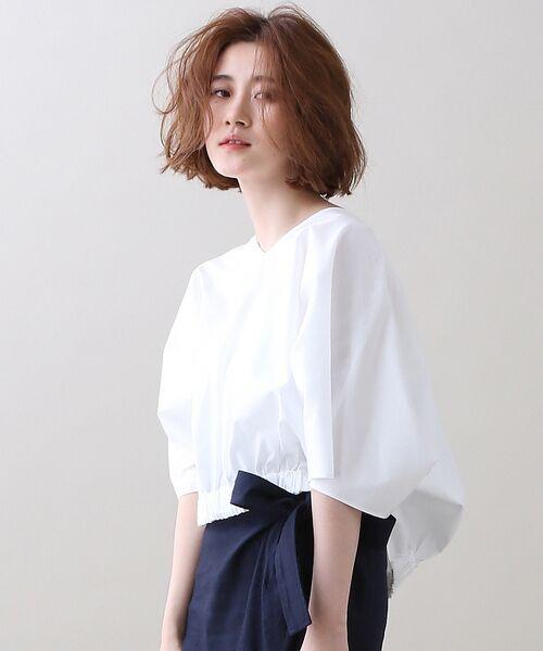 <タカシマヤ>送料無料!100/2ブロードVネックシャツ画像