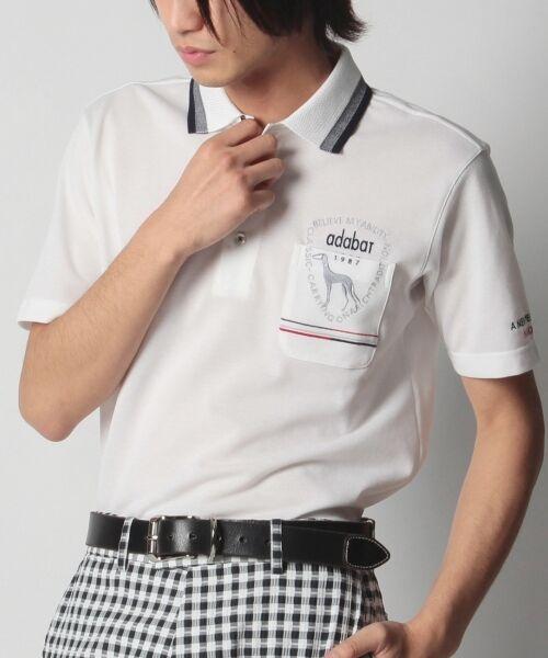 <タカシマヤ>送料無料!ワンポケット刺しゅうデザインポロシャツ画像