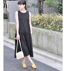 <セレクトスクエア>送料無料!【予約】ローウエストギャザードレス 画像