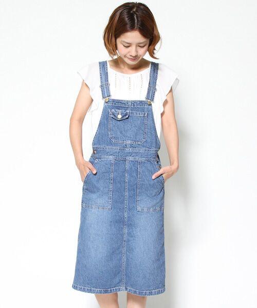 10OZデニムジャンパースカート